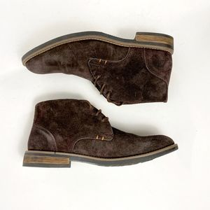 Bruno Marc Classic Suede Brown Chukka Boots Sz 8.5